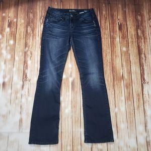 Silver Suki Mid Slim Boot Jeans Dark Wash Flare